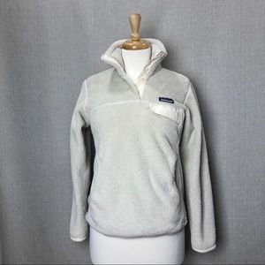 PATAGONIA Raw Linen White Snap-T Fleece Pullover S
